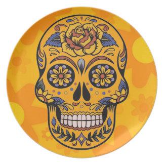 DAY OF THE DEAD DIA DE LOS MUERTOS HOME GIFT PLATE