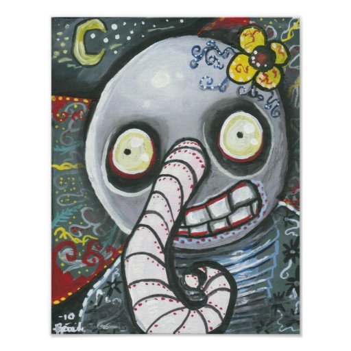 Day Of The Dead Elephant Poster