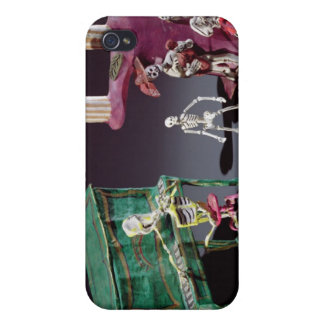 Day of the Dead figures as musicians iPhone 4 Case