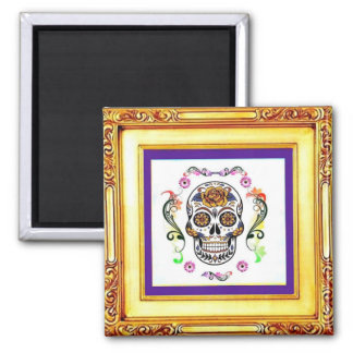 Day of the Dead - Floral Skull Magnet