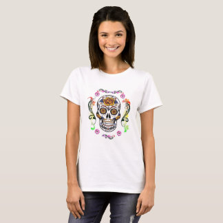 Day of the Dead - Floral Skull T Shirt