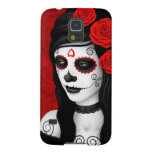 Day of the Dead Girl with Red Roses Case For Galaxy S5