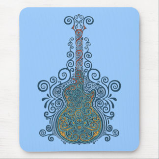 Day of the Dead Guitar Mouse Mat