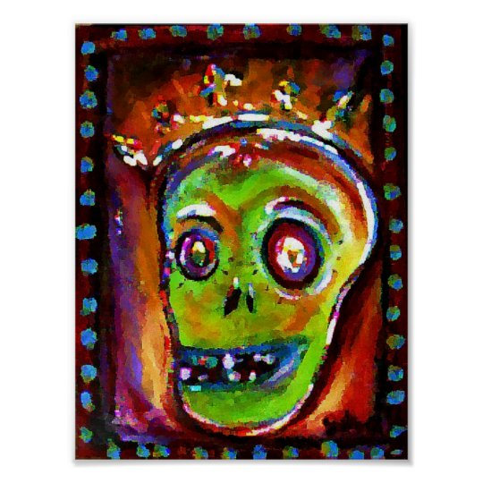 Day of the Dead in Red Poster