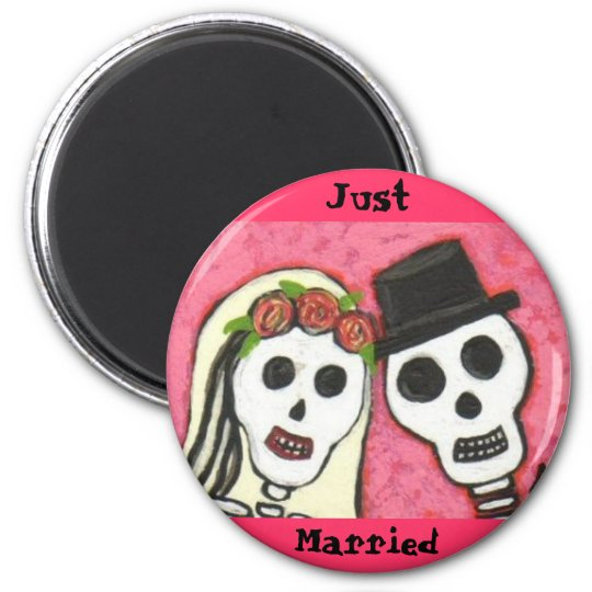 Day of the Dead - Just Married - magnet
