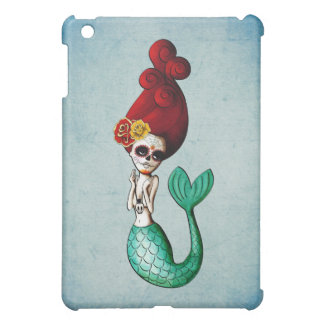 Day of The Dead Lovely Mermaid Girl Case For The iPad Mini