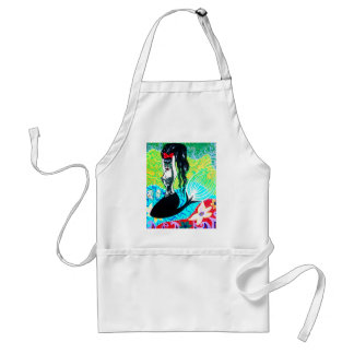 Day of the Dead Mermaid Art Aprons