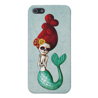 Day of The Dead Mermaid Gal iPhone 5/5S Cover