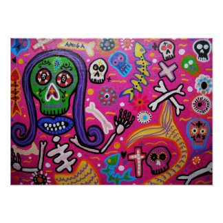 Day of the Dead Mermaid Posters