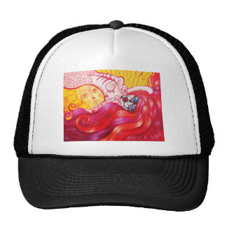 Day of the Dead Mermaid Whimsy Cap