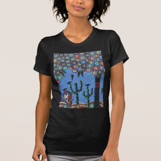 Day Of The Dead Mexican Art By Lori Everett T-Shirt