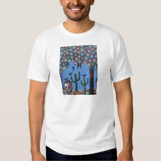 Day Of The Dead Mexican Art By Lori Everett Tee Shirt