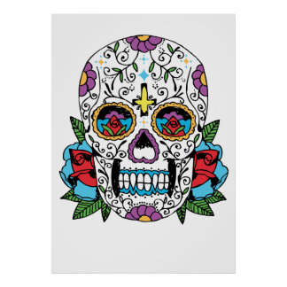 Day of the Dead Mexican Skull Art Print