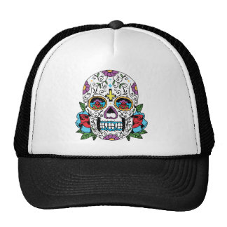Day of the Dead Mexican Skull Cap
