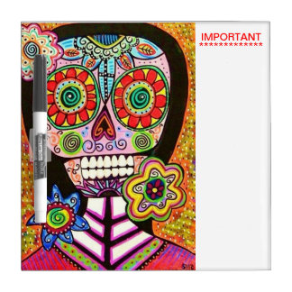 Day Of The Dead Mexican Woman : Important Dry Erase Board