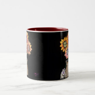day of the dead Two-Tone mug