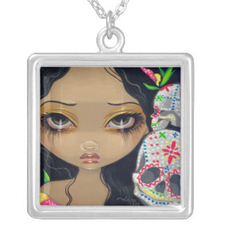 Day of the Dead NECKLACE Faces of Faery 35 skull