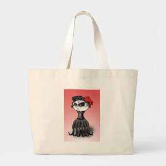 Day of the Dead Octopus Large Tote Bag