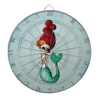 Day of The Dead Old School Mermaid Beauty Dartboard