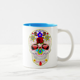'Day of the Dead' Painted Skull Mug