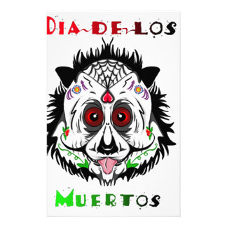 Day of the dead panda customised stationery