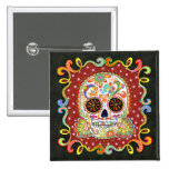 Day of the Dead Pin Button