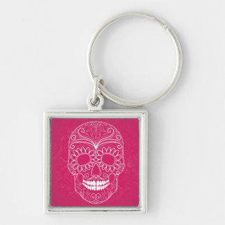 Day of the Dead Pink Skull Key Chain