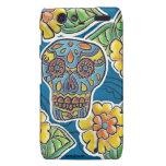 Day of The Dead Rainbow Skull Daisy Tribal Tattoo Motorola Droid RAZR Covers