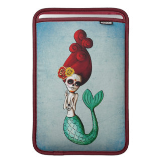 Day of The Dead Red Hair Mermaid Sleeve For MacBook Air