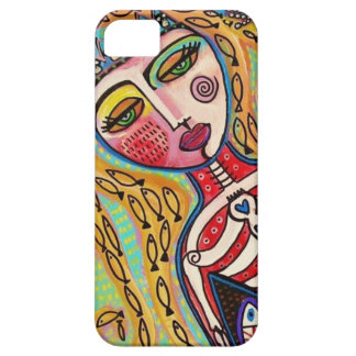 Day Of The Dead Red Skeleton Mermaid Case For The iPhone 5