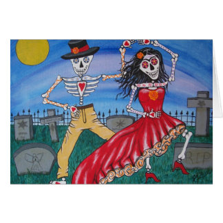 DAY OF THE DEAD  Salsa Dancers Greeting Card
