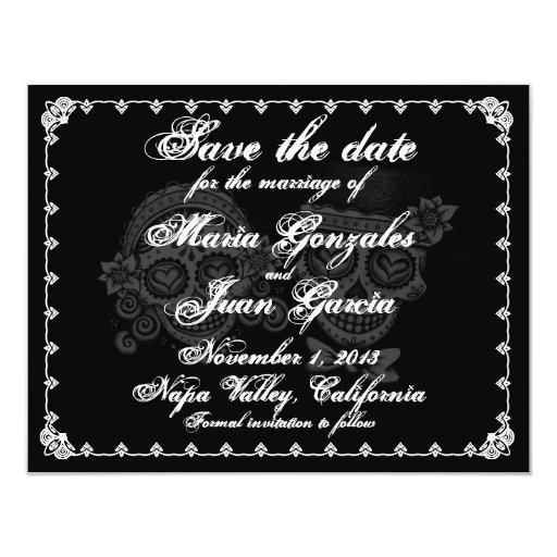 Save the date, Day of the dead and Dia de on Pinterest