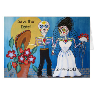 Day of the Dead Save the Date Wedding Notecard