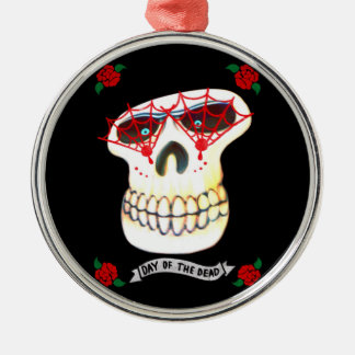 Day of the Dead Silver-Colored Round Decoration