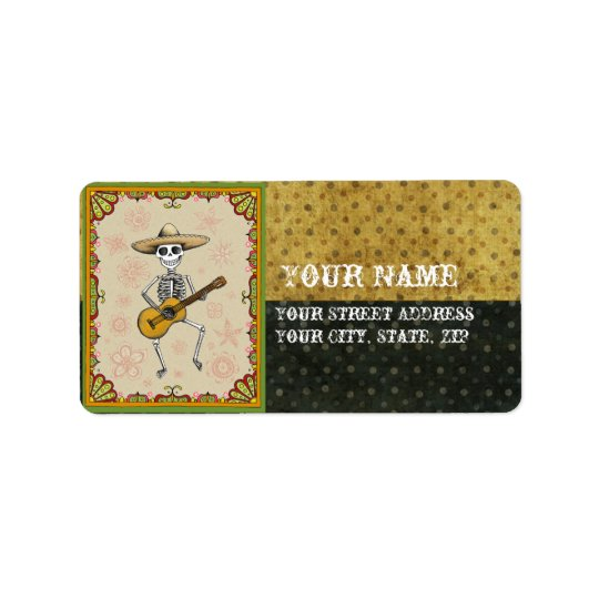 Day of the Dead Skeleton Address Labels
