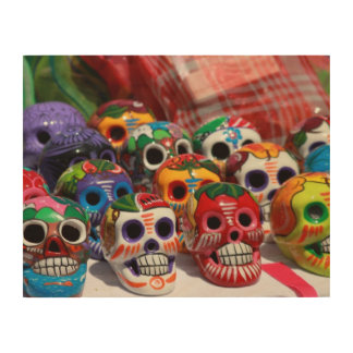 Day Of The Dead Skeletons Wood Print