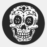 Day Of The Dead Skull 2 Round Sticker