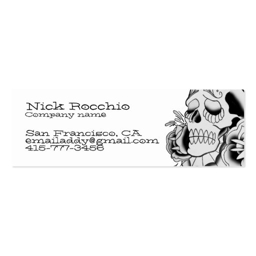 Day of the dead skull, contact card business card templates