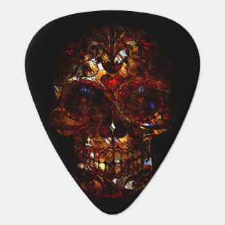 Day of the Dead Skull Death Mask Design Guitar Pick