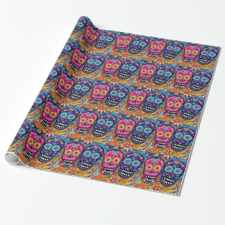 Day of the Dead Skull Heads Wrapping Paper