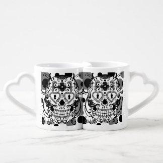 Day of the Dead Skull heart mugs by Skinderella