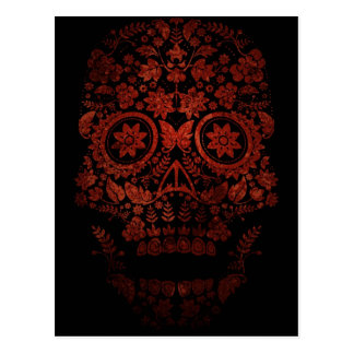 Day of the dead skull postcard