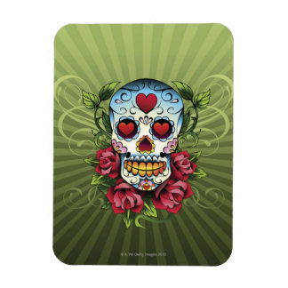 Day of the Dead Skull Rectangular Photo Magnet