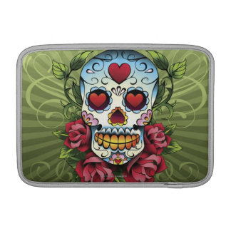 Day of the Dead Skull Sleeve For MacBook Air