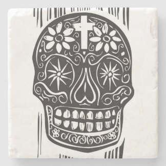 Day Of The Dead Skull Stone Coaster