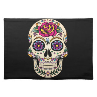 Day of the Dead Skull with Rose Placemat