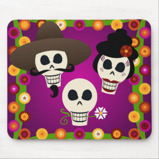 Day Of The Dead Skulls Mouse Mat