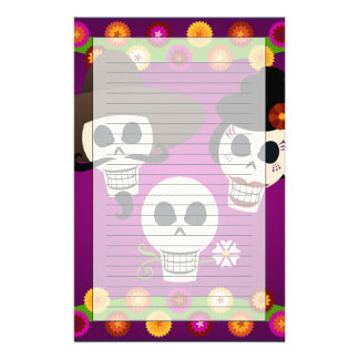 Day Of The Dead Skulls Stationery