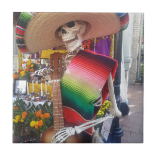 Day of the Dead Small Square Tile
