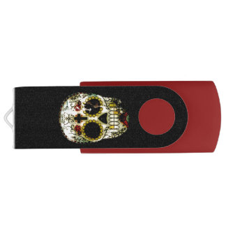 Day of the Dead Spooky Sugar Skull USB Flash Drive